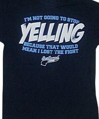 yelling tshirt