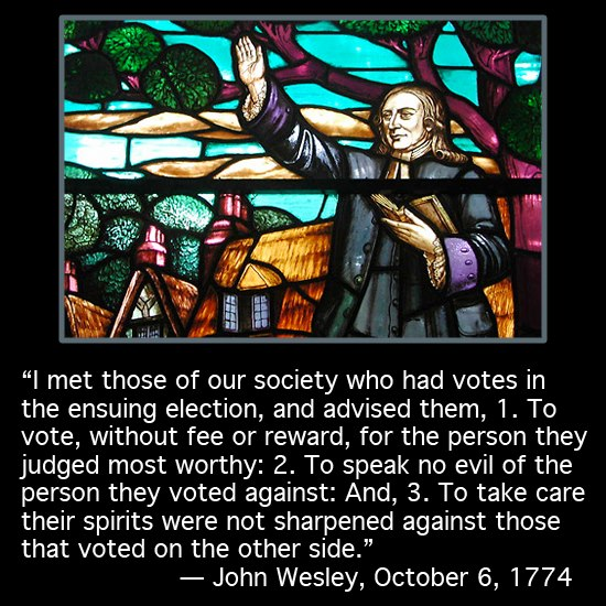 Wesley on elections